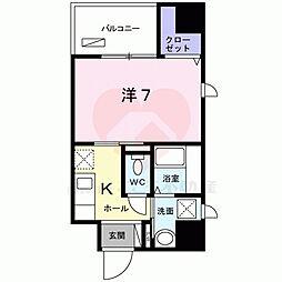 大阪府堺市堺区宿院町西1丁の賃貸マンションの間取り