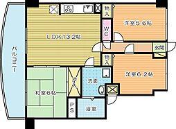 第壱上野マンション (特定優良賃貸住宅)[602号室]の間取り