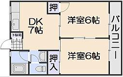 新原第5マンション[3階]の間取り