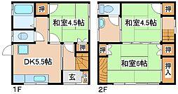 [一戸建] 兵庫県神戸市中央区大日通5丁目 の賃貸【兵庫県 / 神戸市中央区】の間取り