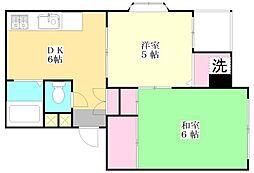 青葉マンション1号館[1階]の間取り