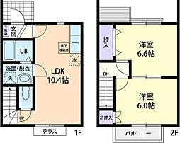 コンフォーティア伸 B[2階]の間取り