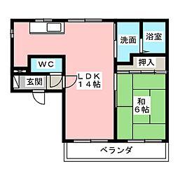 大野コーポ[3階]の間取り