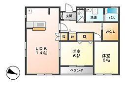 grand koms A棟[2階]の間取り