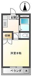 マンション 白木[2階]の間取り