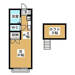 Y's蟹江[2階]の間取り