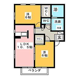 スカーラ覚王山[2階]の間取り