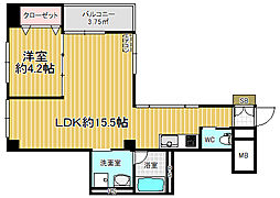 Le Vent Motoyama[1階]の間取り
