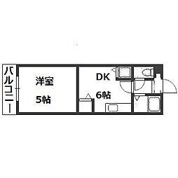 サポナール円山[207号室]の間取り