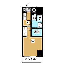 エテルヴォ三ノ輪ステーションフロント 2階1Kの間取り