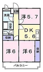 ニューマリッチ鈴木[2階]の間取り