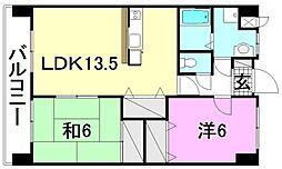 コンフォート・アサノ[402 号室号室]の間取り