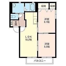 メゾン神田 C[2階]の間取り