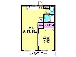 コミューン松島  A[202号室号室]の間取り