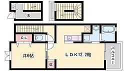 クラール[3階]の間取り