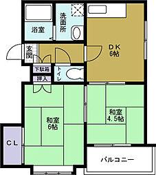 徳屋ハイツ[2階]の間取り
