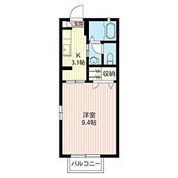 ピースタウン[1階]の間取り