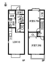 ファミーユ西入[2階]の間取り
