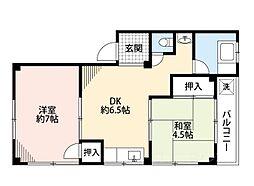 中井マンション[4階]の間取り