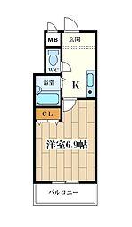 サンライズ大和田[30C号室]の間取り