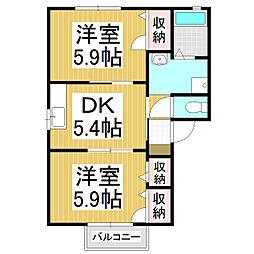 ミレニアム吉澤A棟[2階]の間取り