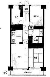 ライオンズマンション津田沼第2[3階]の間取り