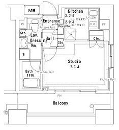 パークアクシス御茶ノ水ステージ[6階]の間取り