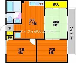 プレジールコスモス A棟[2階]の間取り