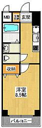 ノステルコート塚口[1階]の間取り