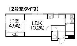 SUPERIAGE伏見(スぺリアージュ)[2階]の間取り