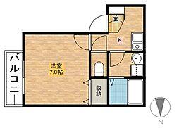 メゾネット21[1階]の間取り