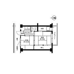 ビレッジハウス青山I7号棟3階Fの間取り画像