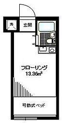 グリーンハイツ仙川[202号室]の間取り