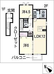 アンスリール島姫[2階]の間取り