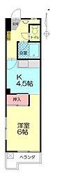 中島第2ビル[205号室]の間取り