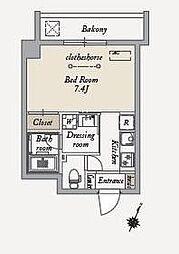 東急世田谷線 上町駅 徒歩6分の賃貸マンション 3階1Kの間取り