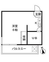 カーサ香美奈II[203号室]の間取り
