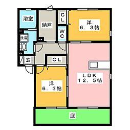 エルメゾン鶴舞[1階]の間取り
