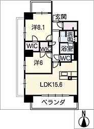 ロイヤルパークスERささしま(南棟)[8階]の間取り