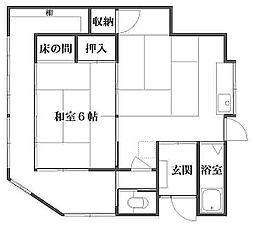 東京都足立区椿2丁目の賃貸アパートの間取り
