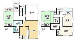 JR山陽本線 相生駅 徒歩12分 4SLDKの間取り