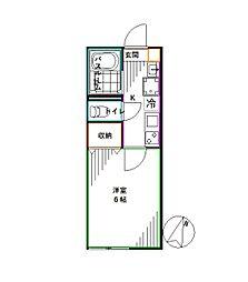 東京メトロ丸ノ内線 南阿佐ヶ谷駅 徒歩9分の賃貸アパート 1階1Kの間取り
