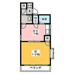 メゾンドフォーレ6番館[2階]の間取り