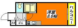 リバーライズ永和 406号室[4階]の間取り