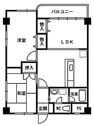 コンフォート文京[2階]の間取り