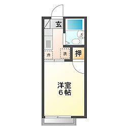 ユーハウス・TSU[1階]の間取り