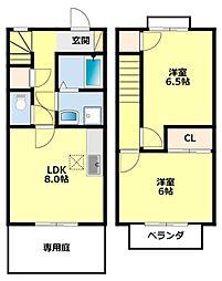 愛知県豊田市新町2丁目の賃貸アパートの間取り
