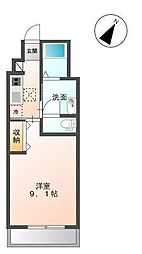 木更津市金田東5丁目新築アパート[106号室]の間取り