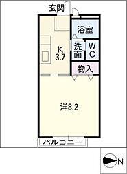 ロイヤル三好ヶ丘B[2階]の間取り