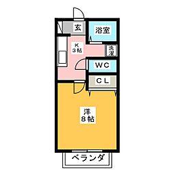 リバティー的場[1階]の間取り